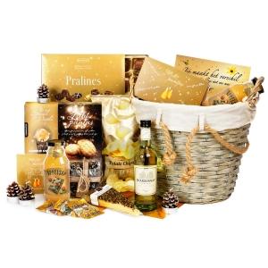 Mooie gele kerstpakketten assortiment