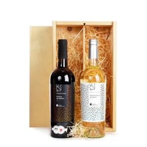 Mooie bedankgeschenken met wijn verpakt in een luxe houten kistje