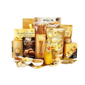 Bekijk het overicht en bestel een geel kerstpakket online