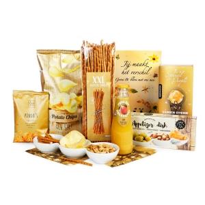 Een mooi goud kerstpakket bestellen online