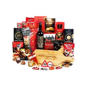 goedgevulde vlees kerstpakketten met accessoires, sauzen en specerijen