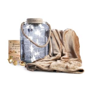 Mooi wellness kerstpakket met handdoek en zeep