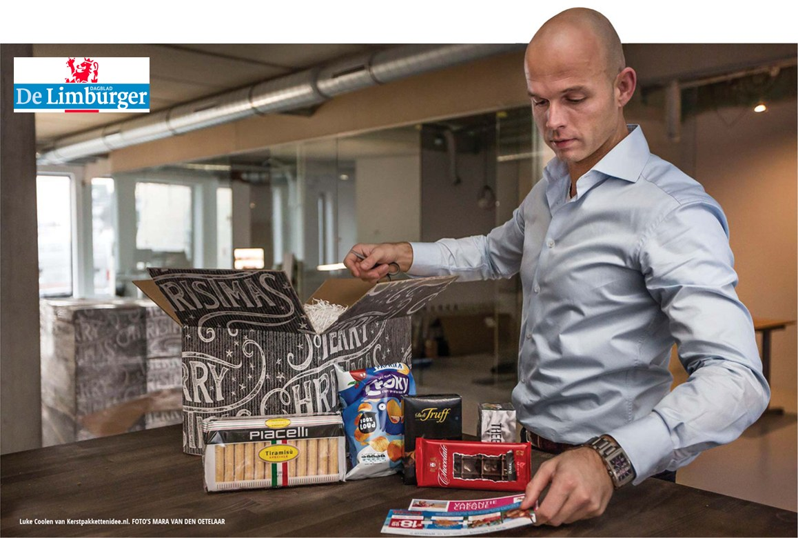Kerstpakkettenidee.nl in dagblad De Limburger